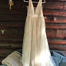 Custom Lace And Tulle Wedding Gown Size 6
