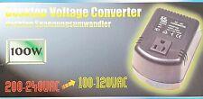 Desktop Voltage Converter Step Down Adaptor 200 - 240 V AC to 100 - 120 V AC
