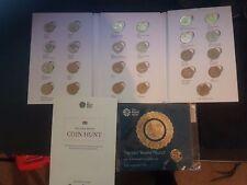 ONE Pound Coins  full set 25 coins  in ALBUM + LAST round one coin in folder.