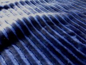 Sheepskin Shearling leather hide pelt Deep Electric Blue Striped silky hair