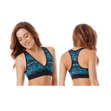 Zumba Fitness Peace Love-N-Mid Level V Bra Sport Top - Bangin' Blue - XSpicy XS