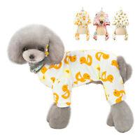 Cotton Hundepyjama Haustier Kleidung Hundeoverall Hundemantel für kleine Hunde