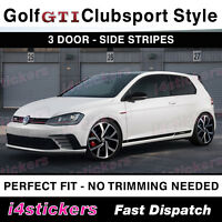 VW Golf GTI MK7 MK7.5 Side Stripes Decals 3 door stickers Clubsport Style
