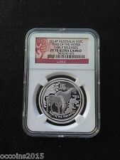 2014 Australia 1/2oz Silver Lunar Horse NGC PF70 UC Early Releases Flag Label