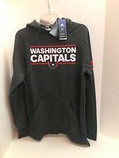 Washington Capitals Adidas NHL Squad Pullover Hoody SZ S NWT $100
