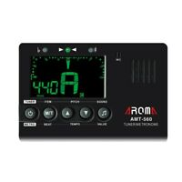 AROMA Amt-560 Accordeur de Guitare Accordeur éLectrique Metronome Microphon K4Y2