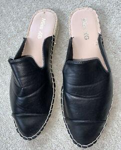 Fantastic Miss KG KURT GEIGER women's Flat Espadrilles Sliders Black Size 8/41
