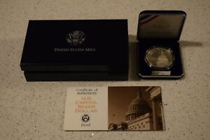 1994 US Capitol Bicentennial Silver Dollar PROOF US Mint Coin Set with Box & COA