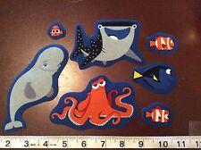 Disney Pixar  Finding Dory  Fabric Iron Ons  set of 7 Nemo Hank etc.