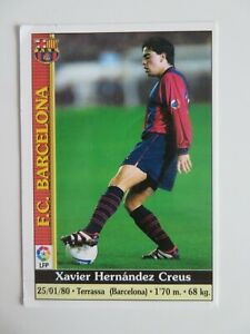 Rookie card 2nd season Barcelona Xavi Hernandez Creus 5x Uefa team year