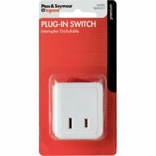 Pass & Seymour Plug-In Power Switch 15A - 120V - White
