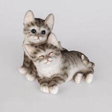 Katzenpaar 19 cm Naturfarben Dekofigur Kunststein Tiere Haustiere formano 715258