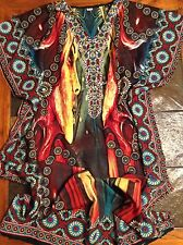 Beautiful WOMAN'S ONE SIZE CAFTAN  100% POLYESTER MADE IN INDIA