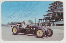 Indianapolis 500 Winner LEE WALLARD Signed Indy Auto Race Driver POSTCARD