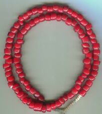 African Trade beads Vintage Venetian glass nice old large red white hearts