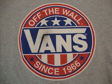 Vans Off The Wall Logo Since 1966 Apparel Gray Cotton T Shirt Size S