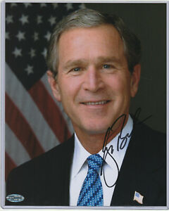 George W. Bush Jr. Autograph 8x10 w/ *COA* Authenticated Hand Signed