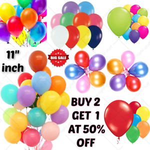 25 X Latex Plain Balloons Helium Baloons Birthday Wedding Quality Party BALOONUK