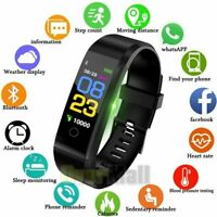 Bluetooth Smart Watch Fit*bit Waterproof  Fitness Step Tracker for Android iOS