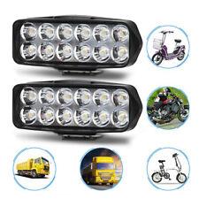 2Pcs Motorcycle LED Headlight Driving Street Bike Scooter Spot Light Lamp Bulbs