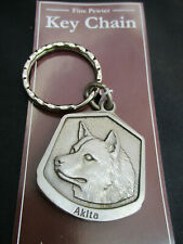 Lindsay Claire Canada Fine Pewter Key Chain Akita Qualities Dog Breed Gift