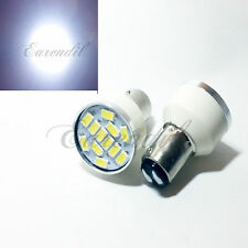 1157 White Samsung Chip 12 SMD LED 2x Bulb #D1 Rear Front Turn Signal Stop Park