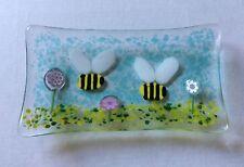 Fusible verre Bumble Bee Soap Dish Bijou Boucle d'oreille Bol Cadeau