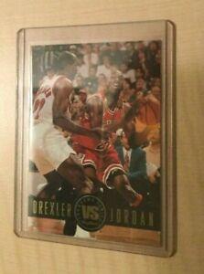 Michael Jordan 1994-95 Skybox Showdown Series Vs. Drexler Insert #SS11 BULLS