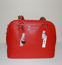 DKNY RED LEATHER LARGE SATCHEL BAG