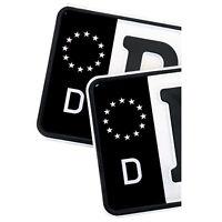 2x Kennzeichen Nummernschild Aufkleber EU Feld Schwarz Folie Aufkleber Waschfest