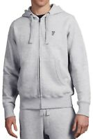 French Connection Zip Up Hoodie Mens Sweatshirt Hood Sweat Top Grey Melange