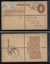 Australia , Scone  registered postal envelope  local use                MM1102