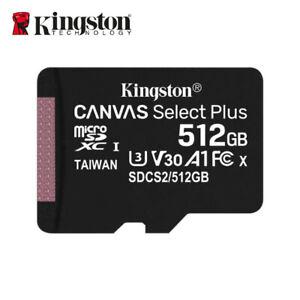 Kingston 512GB A1 MicroSD SDXC Class 10 TF Memory Card UHS-I 100MBs w/Tracking#