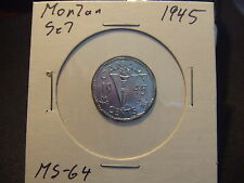 CANADA FIVE CENTS 1945 MS-++++, amazing MORTAR SET.