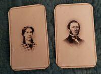 1860's CIVIL WAR ERA CDV's - NEW YORK CITY - FAMILY GROUP TAKEN BY A. D. HOPPER