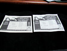 1970 Tournament of Roses Parade - Lot of 2 - Floats List & Order Form for Photos