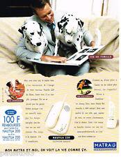 PUBLICITE ADVERTISING 085  1995  MATRA COMMUNICATION téléphone sans fil NAUTILA