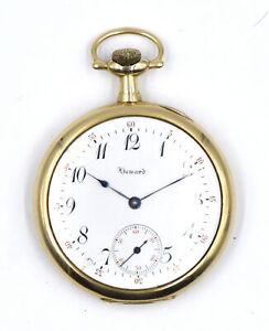ANTIQUE E HOWARD 17J POCKET WATCH 14K YELLOW GOLD ORIGINAL BOX  LICENSE c1911