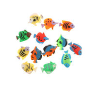 12 Pcs En Plastique Assortiment de Poissons Tropicaux Modèles Kid Jouet