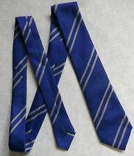 BNWOT NEW BOYS TIE MOD CASUAL AGE 6-12 CLUB SCHOOL STRIPED ROYAL BLUE GREY