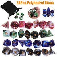 28 PCS Polyhedral Dice Set for Dungeons Dragons D20 D12 D10 D8 D6 D4 Games