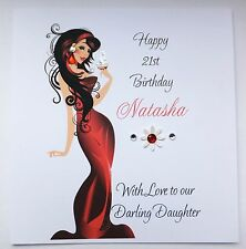 Personalised Birthday Card Daughter Niece Friend 18th 21st 30th etc