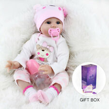Reborn Baby Dolls 22 Inch Lifelike Real Girl Doll Newborn Gift Package Christmas