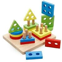 Educational Toys For 2 3 Year Olds Children 1 Colorful Wooden Pieces Standard W