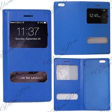 Accessoire Housse Etui Coque Pochette Plastique View Case BLEU Apple iPhone 6S