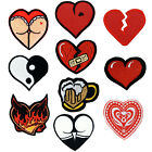 Heart Patch Embroidered Love Life Yin & Yang Beer Sexy Devil Wounded Hurt Card