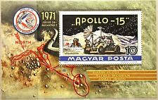 HUNGARY UNGARN 1972 Block 87 A S/S C315 Apollo 15 Moon Mission Space Weltraum **