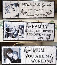 Personalised Photo Best Friend Family Love Wooden Home Gift Wall Plaque Sign