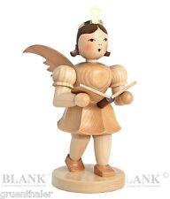 Kurzrock-Engel Sänger natur Großfigur 20cm Fa. Blank Erzgebirge Kurzrockengel