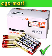 New Panasonic Alkaline AAA Batteries x 40 pcs LR03T FREE POST